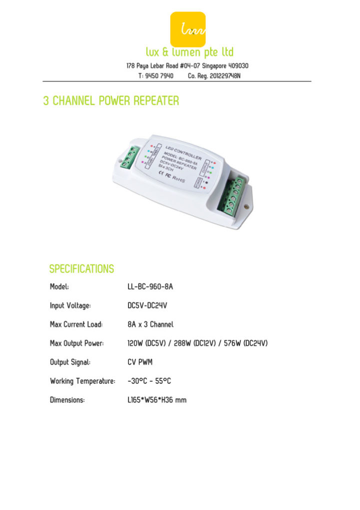 3 Channel Power Repeater