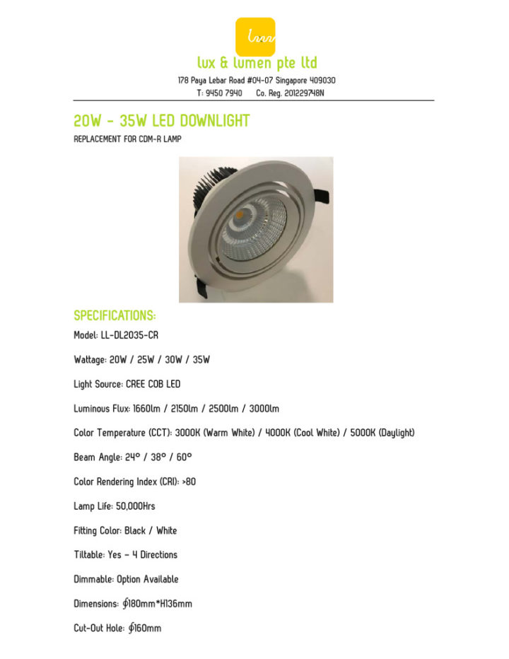 thumbnail of 6-Inch 20W – 35W LED Downlight