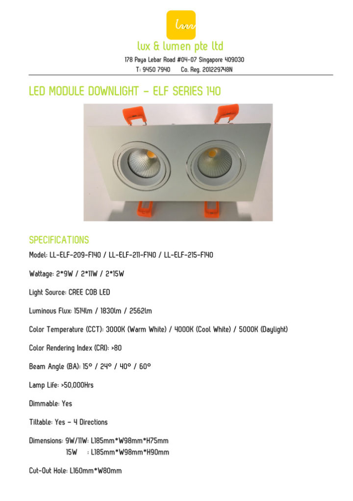 thumbnail of LED Module Downlight – Elf Series 140