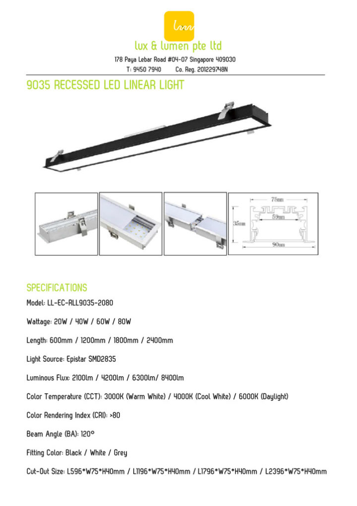 Recessed Linear Light 9035