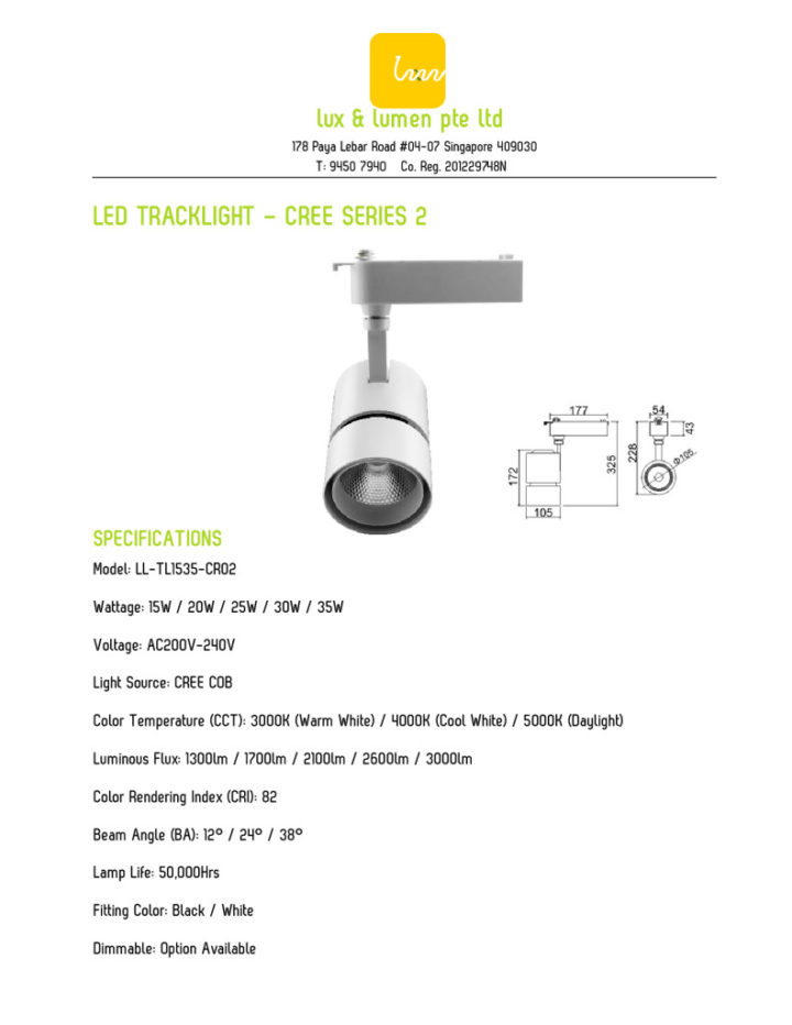 Star Series 1 – 15W to 35W LED Tracklight